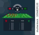 soccer match scoreboard flat... | Shutterstock .eps vector #1036839133