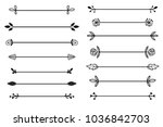 vector collection of hand drawn ... | Shutterstock .eps vector #1036842703
