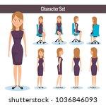 businesswomen posing on office... | Shutterstock .eps vector #1036846093