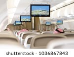 travelling by plane in saudi... | Shutterstock . vector #1036867843