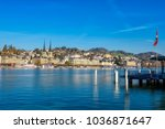 beautiful view of lucerne ... | Shutterstock . vector #1036871647