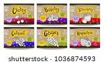 set colorful food labels ... | Shutterstock .eps vector #1036874593