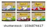 set colorful food labels ... | Shutterstock .eps vector #1036874617