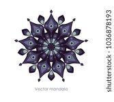 vector color mandala   Shutterstock .eps vector #1036878193