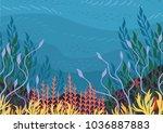 underwater nature background... | Shutterstock .eps vector #1036887883