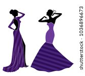 attractive graceful ladyes in... | Shutterstock .eps vector #1036896673