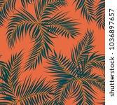 floral seamless pattern.... | Shutterstock .eps vector #1036897657