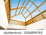 transparent roof can see the... | Shutterstock . vector #1036899193
