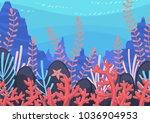 underwater nature background... | Shutterstock .eps vector #1036904953
