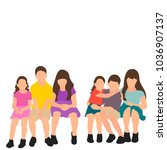 vector flat style children... | Shutterstock .eps vector #1036907137