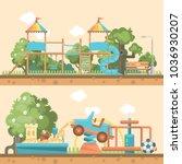 play ground vector... | Shutterstock .eps vector #1036930207