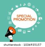 promotion design. set of flat... | Shutterstock .eps vector #1036935157