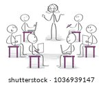students listening explanation... | Shutterstock .eps vector #1036939147