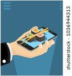 isometric concept of ordering... | Shutterstock .eps vector #1036944313