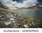 pangong lake leh ladakh | Shutterstock . vector #1036969063