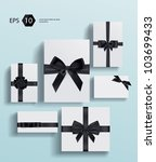 vector gift wrapping collection | Shutterstock .eps vector #103699433