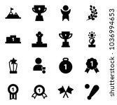 solid vector icon set  ... | Shutterstock .eps vector #1036994653