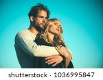 family couple of man and sexy... | Shutterstock . vector #1036995847