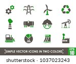 industry simple vector icons in ... | Shutterstock .eps vector #1037023243