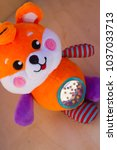 Small photo of Fox rattle toy