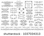 set of vector graphic elements... | Shutterstock .eps vector #1037034313