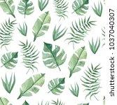 green summer tropical... | Shutterstock . vector #1037040307
