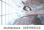 empty smooth abstract room...   Shutterstock . vector #1037045113