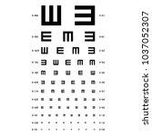 eye test chart vector. e chart. ... | Shutterstock .eps vector #1037052307