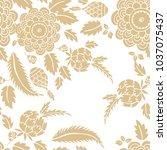 elegant seamless pattern golden ... | Shutterstock .eps vector #1037075437