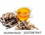 ayurvedic herb liquorice root... | Shutterstock . vector #1037087947