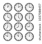 a collection of clocks each...   Shutterstock . vector #1037088457