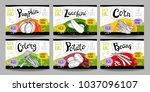 set colorful food labels ... | Shutterstock .eps vector #1037096107