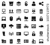 flat vector icon set   trash... | Shutterstock .eps vector #1037115973
