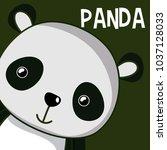 cute panda cartoon | Shutterstock .eps vector #1037128033