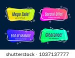 flat linear promotion vivid... | Shutterstock .eps vector #1037137777