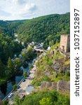 top view of city of vianden ... | Shutterstock . vector #1037152897