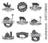 american farm badge or label....   Shutterstock .eps vector #1037158063