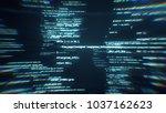 the work of program code in the ... | Shutterstock . vector #1037162623