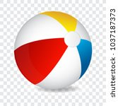colorful beach ball  vector... | Shutterstock .eps vector #1037187373
