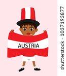 fan of austria national... | Shutterstock .eps vector #1037193877
