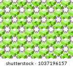 geometric pattern of green and...