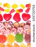 colorful jelly candies... | Shutterstock . vector #103720703