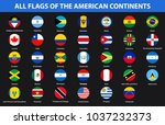 flags of all countries of the... | Shutterstock .eps vector #1037232373