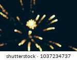 fireworks at new year and copy... | Shutterstock . vector #1037234737
