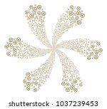 radioactive spiral motion.... | Shutterstock .eps vector #1037239453