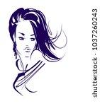 vector  stylish  original hand ... | Shutterstock .eps vector #1037260243