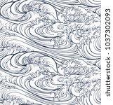 japanese sea new pattern... | Shutterstock .eps vector #1037302093