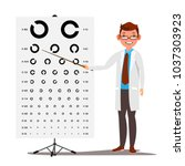 male ophthalmology vector.... | Shutterstock .eps vector #1037303923