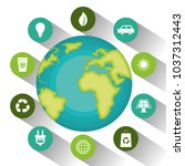 environmental and ecology set... | Shutterstock .eps vector #1037312443