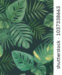 tropical seamless pattern with... | Shutterstock .eps vector #1037338663